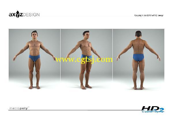 AXYZ Design出品高精度三维人物模型合辑的图片6