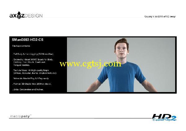 AXYZ Design出品高精度三维人物模型合辑的图片8