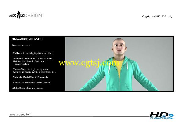 AXYZ Design出品高精度三维人物模型合辑的图片11