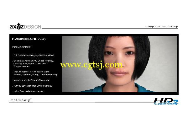AXYZ Design出品高精度三维人物模型合辑的图片12