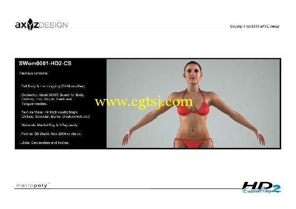 AXYZ Design出品高精度三维人物模型合辑的图片15