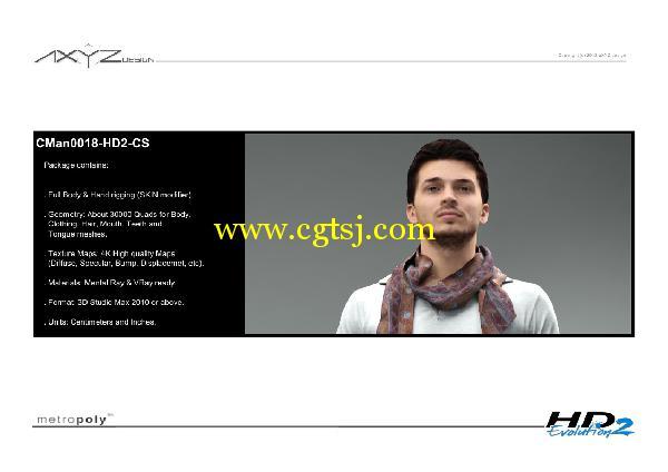AXYZ Design出品高精度三维人物模型合辑的图片16