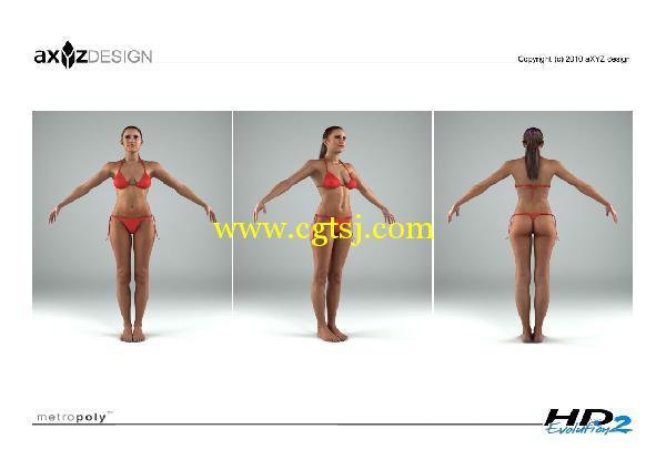AXYZ Design出品高精度三维人物模型合辑的图片17