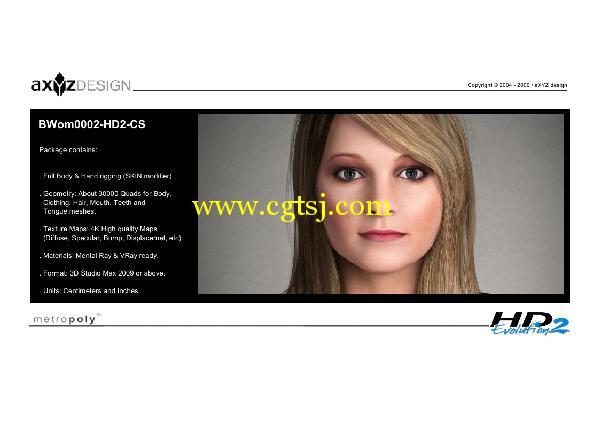 AXYZ Design出品高精度三维人物模型合辑的图片18