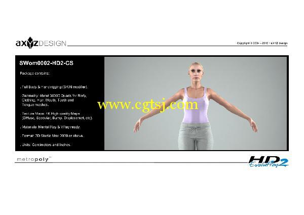 AXYZ Design出品高精度三维人物模型合辑的图片20