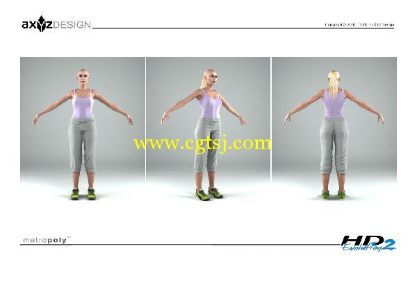 AXYZ Design出品高精度三维人物模型合辑的图片21