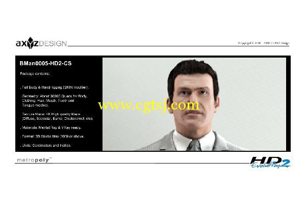 AXYZ Design出品高精度三维人物模型合辑的图片23