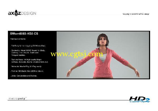 AXYZ Design出品高精度三维人物模型合辑的图片24