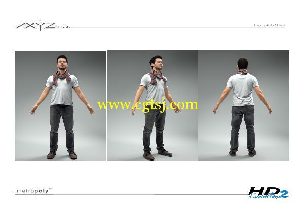 AXYZ Design出品高精度三维人物模型合辑的图片28