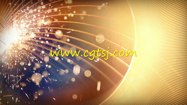 超炫金色粒子绽放舞台LED背景视频素材的图片1