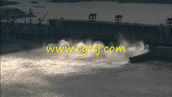 长江三峡视频v视频大坝水力发电站高清海战堤坝鸣水坝泄洪图片