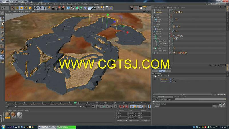 C4D地面裂痕视效技术视频教程第一季的图片1