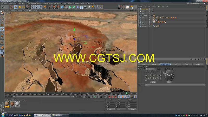 C4D地面裂痕视效技术视频教程第一季的图片2