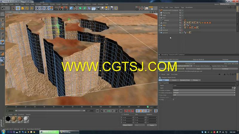 C4D地面裂痕视效技术视频教程第一季的图片4