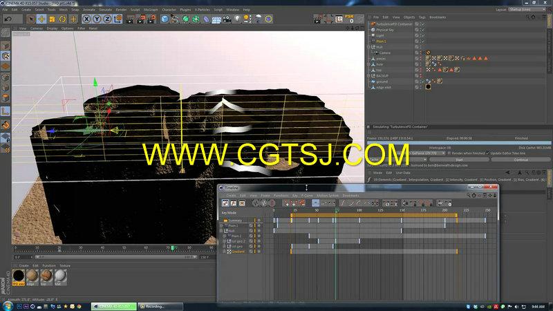 C4D地面裂痕视效技术视频教程第一季的图片5