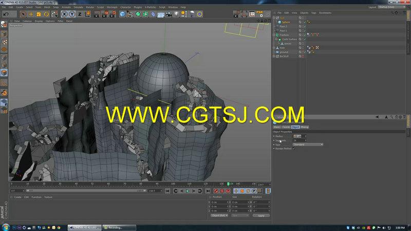 C4D地面裂痕视效技术视频教程第一季的图片6