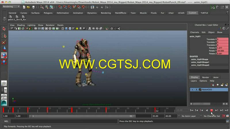 本视频教程是由digital-tutors机构出品的maya游戏角色运动动画训练