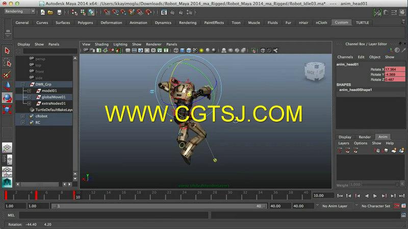 本视频教程是由digital-tutors机构出品的maya游戏角色运动动画训练视