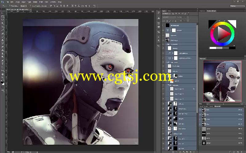 Keyshot与PS科幻角色渲染合成技巧视频教程的图片1