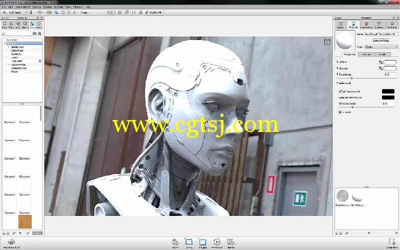 Keyshot与PS科幻角色渲染合成技巧视频教程的图片2