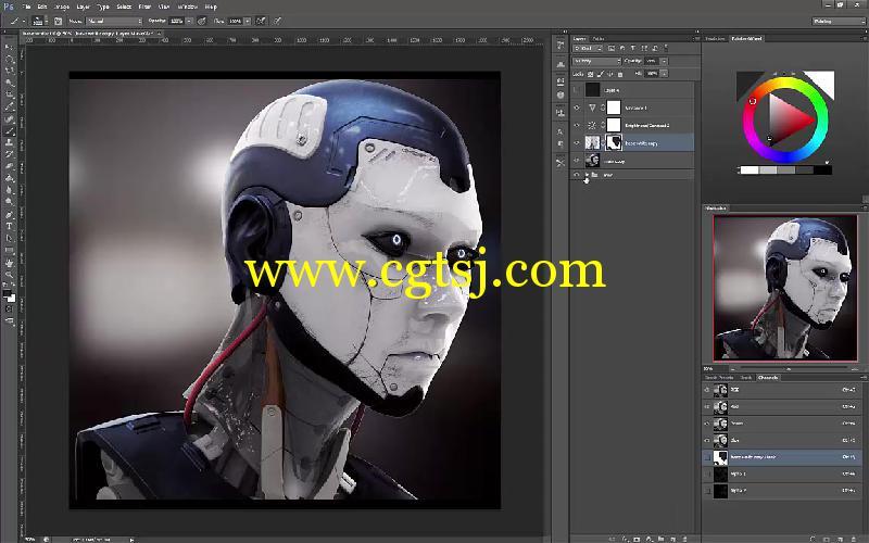 Keyshot与PS科幻角色渲染合成技巧视频教程的图片3
