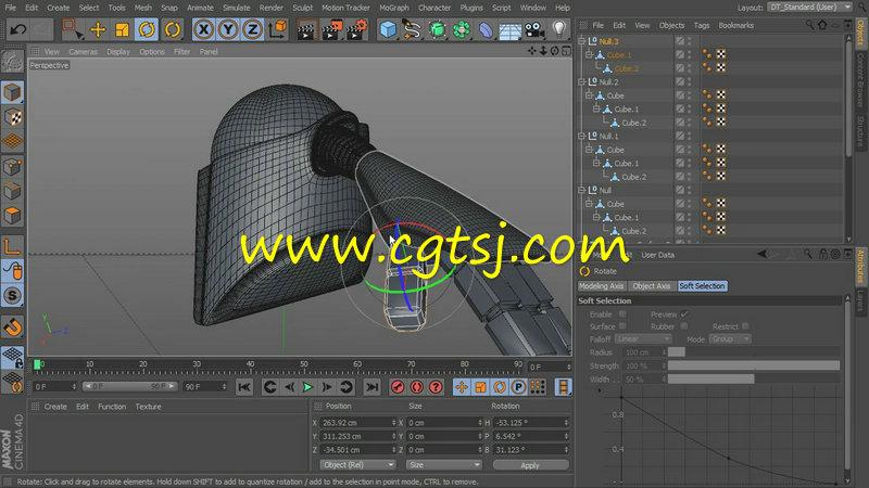 C4D建模技术训练视频教程的图片3