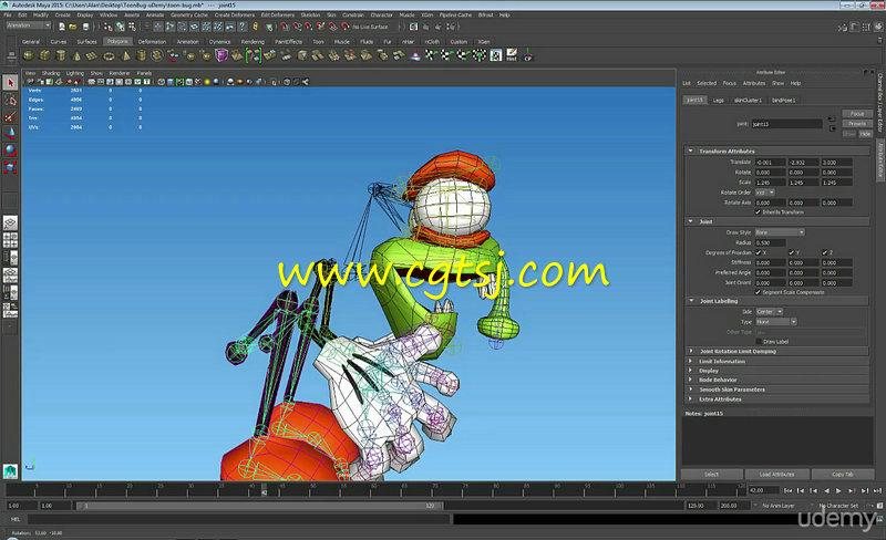 Maya与Unity飞蝇游戏角色开发训练视频教程的图片2