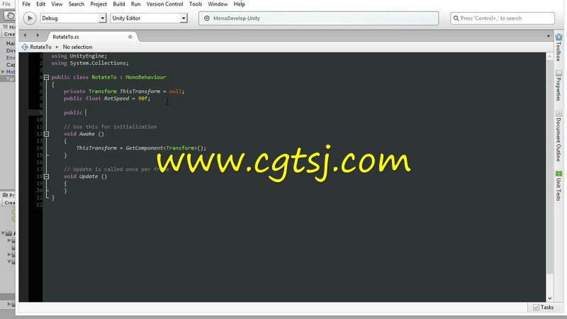 Unity 5中C#语言脚本游戏制作视频教程第一季的图片1