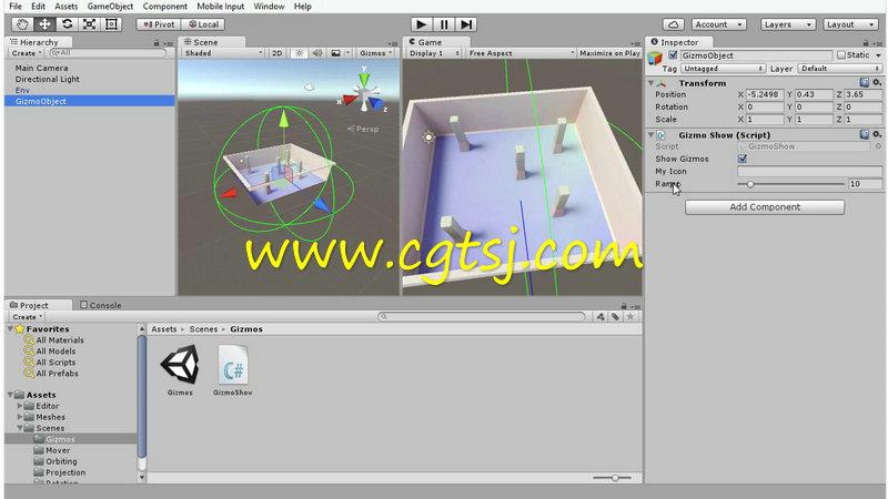 Unity 5中C#语言脚本游戏制作视频教程第一季的图片2