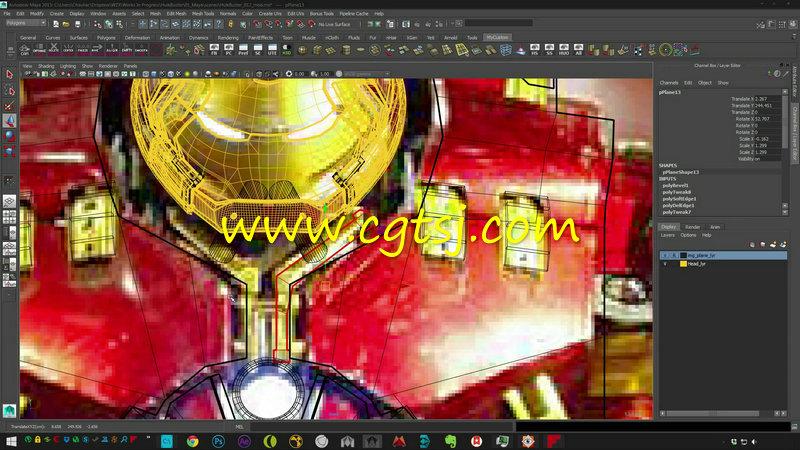Maya电影级钢铁侠完整实例制作视频教程的图片1