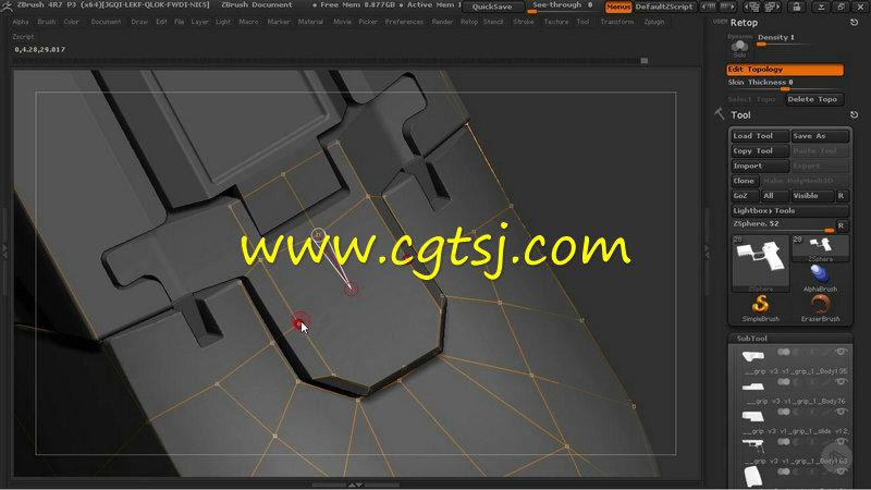 ZBrush与Quixel SUITE超逼真游戏武器制作视频教程的图片1