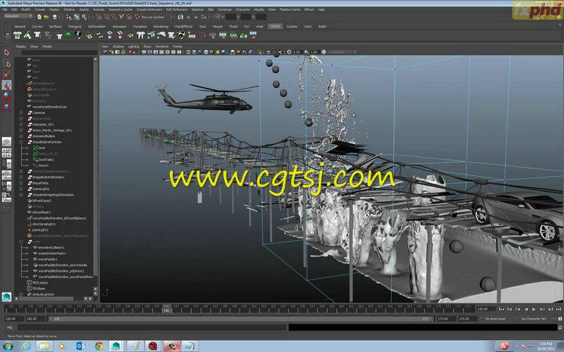 Maya中Bifrost流体特效高阶技巧视频教程的图片1