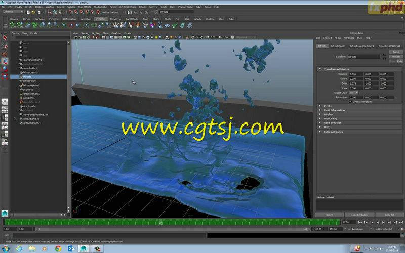 Maya中Bifrost流体特效高阶技巧视频教程的图片3