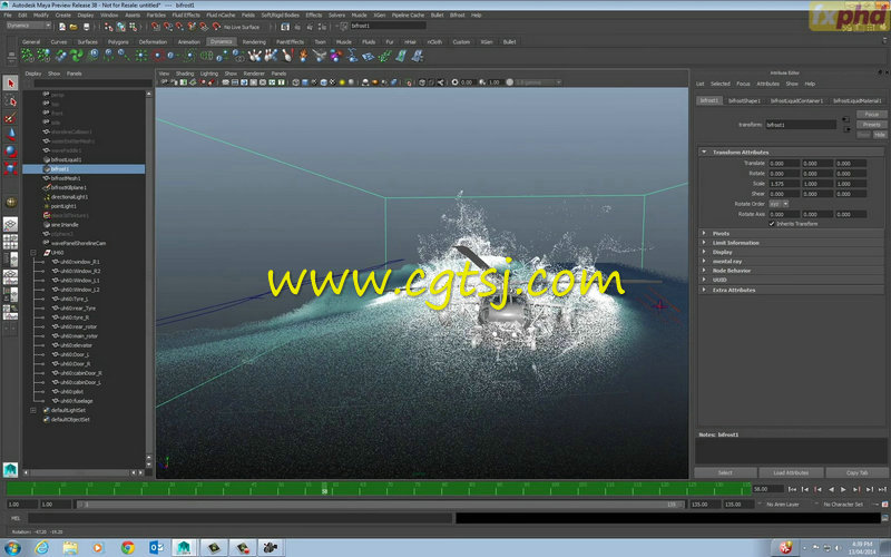 Maya中Bifrost流体特效高阶技巧视频教程的图片4