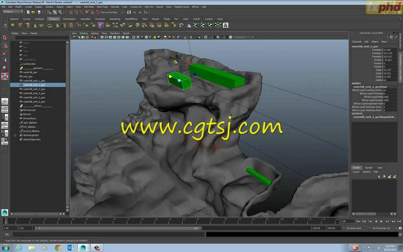 Maya中Bifrost流体特效高阶技巧视频教程的图片7