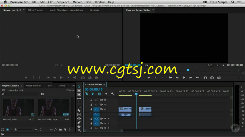 Premiere Pro CC基础核心技术训练视频教程的图片1
