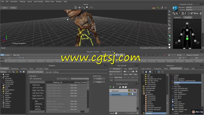 C4D角色动画核心技术实例训练视频教程