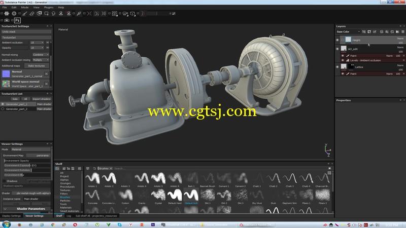 Substance Painter游戏纹理贴图技术视频教程的图片3