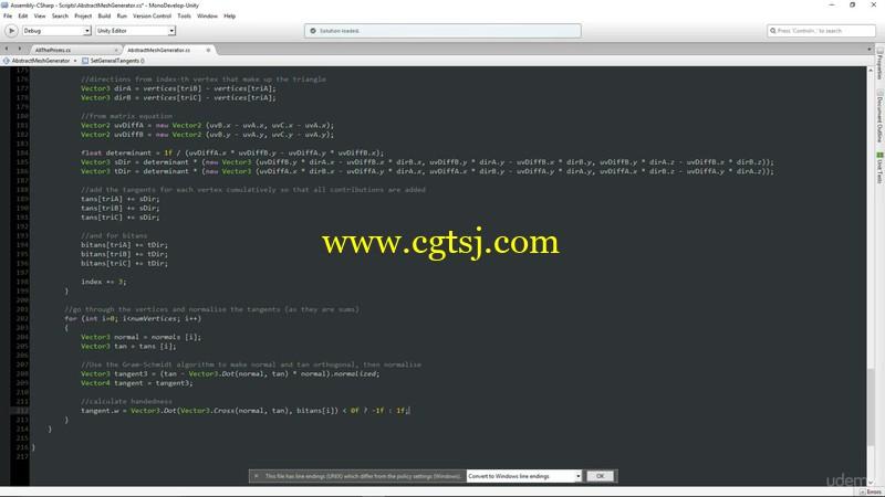 Unity编程制作几何网格地形实例训练视频教程的图片3
