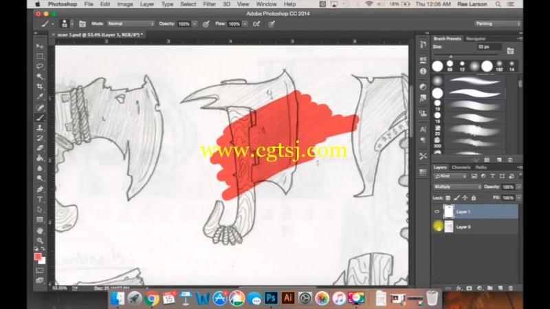 从传统绘画到数码上色实例训练视频教程的图片1