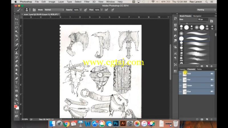 从传统绘画到数码上色实例训练视频教程的图片2