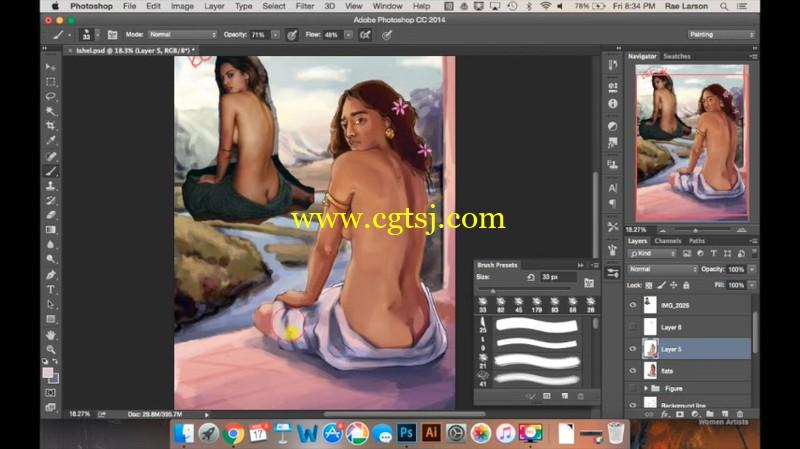 美女画师教你如何画卡通美眉视频教程的图片1