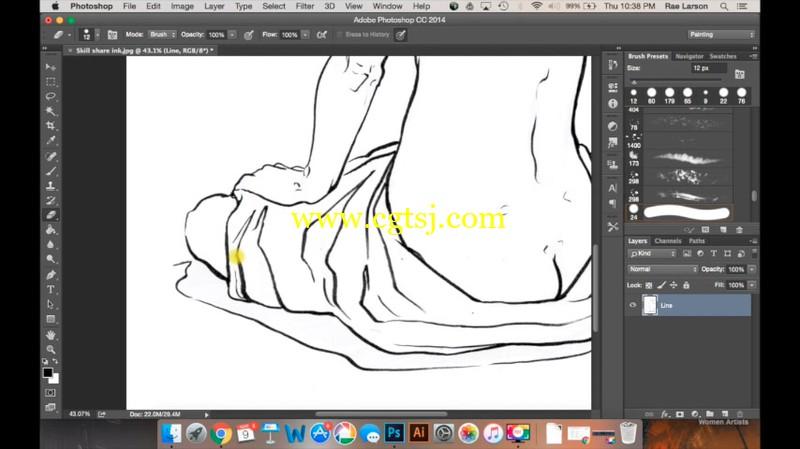 美女画师教你如何画卡通美眉视频教程的图片2