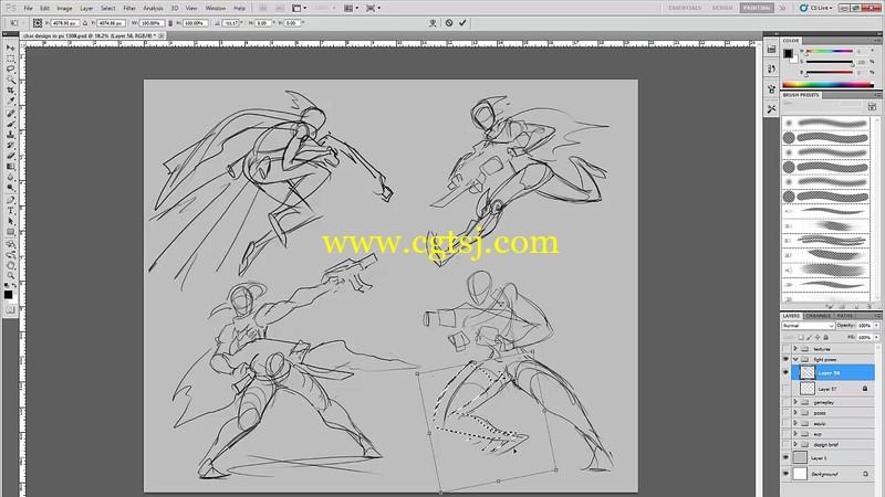游戏角色设计绘画实例训练视频教程第二季的图片1