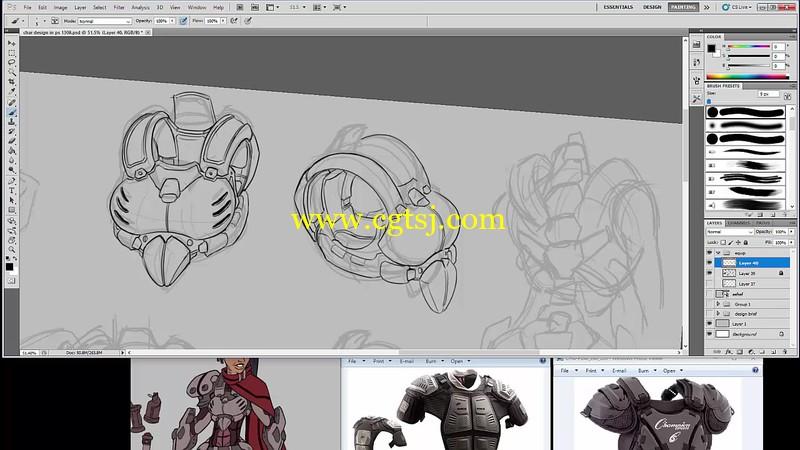 游戏角色设计绘画实例训练视频教程第二季的图片3