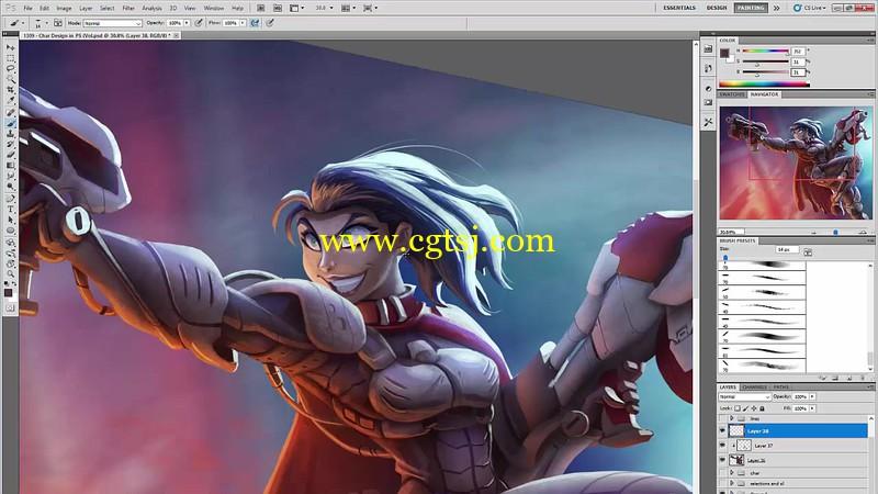 游戏角色设计绘画实例训练视频教程第三季的图片4