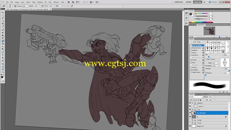 游戏角色设计绘画实例训练视频教程第三季的图片5