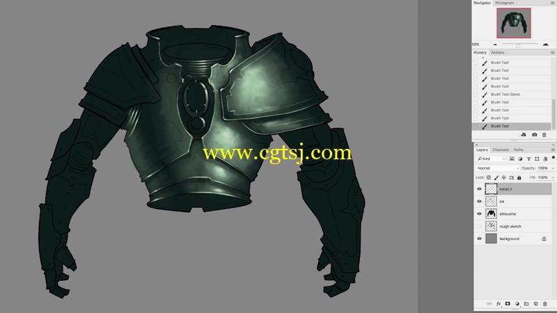 游戏武器装备概念艺术绘画视频教程的图片2