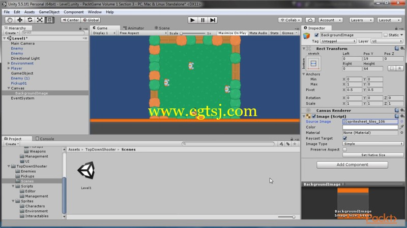 Unity 5中2D游戏框架制作视频教程的图片1