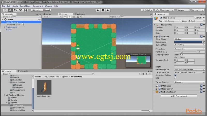 Unity 5中2D游戏框架制作视频教程的图片3